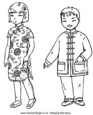 Children around the world coloring pages.