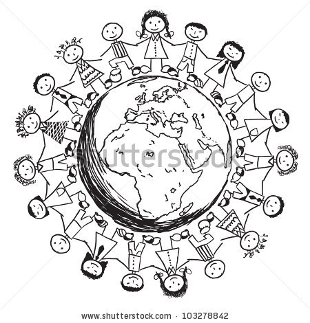 Children Around The World Stock Images, Royalty.