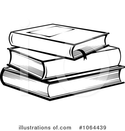 Books Black And White Clipart.