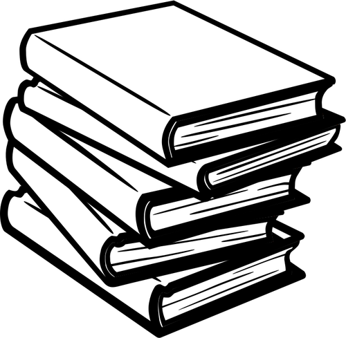 204 books free clipart.