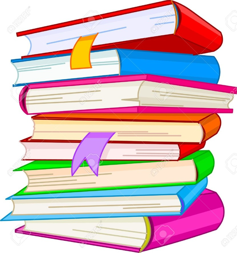 Stack of books clip art and book on.