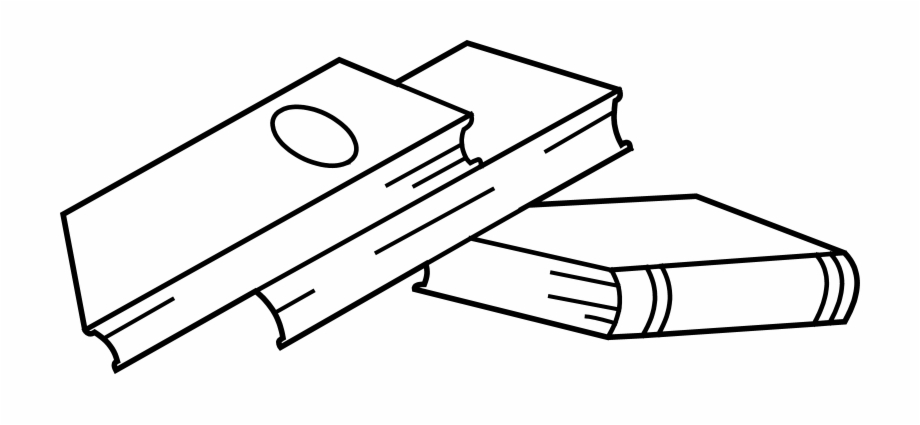 Stack Of Books Clip Art Coloring.