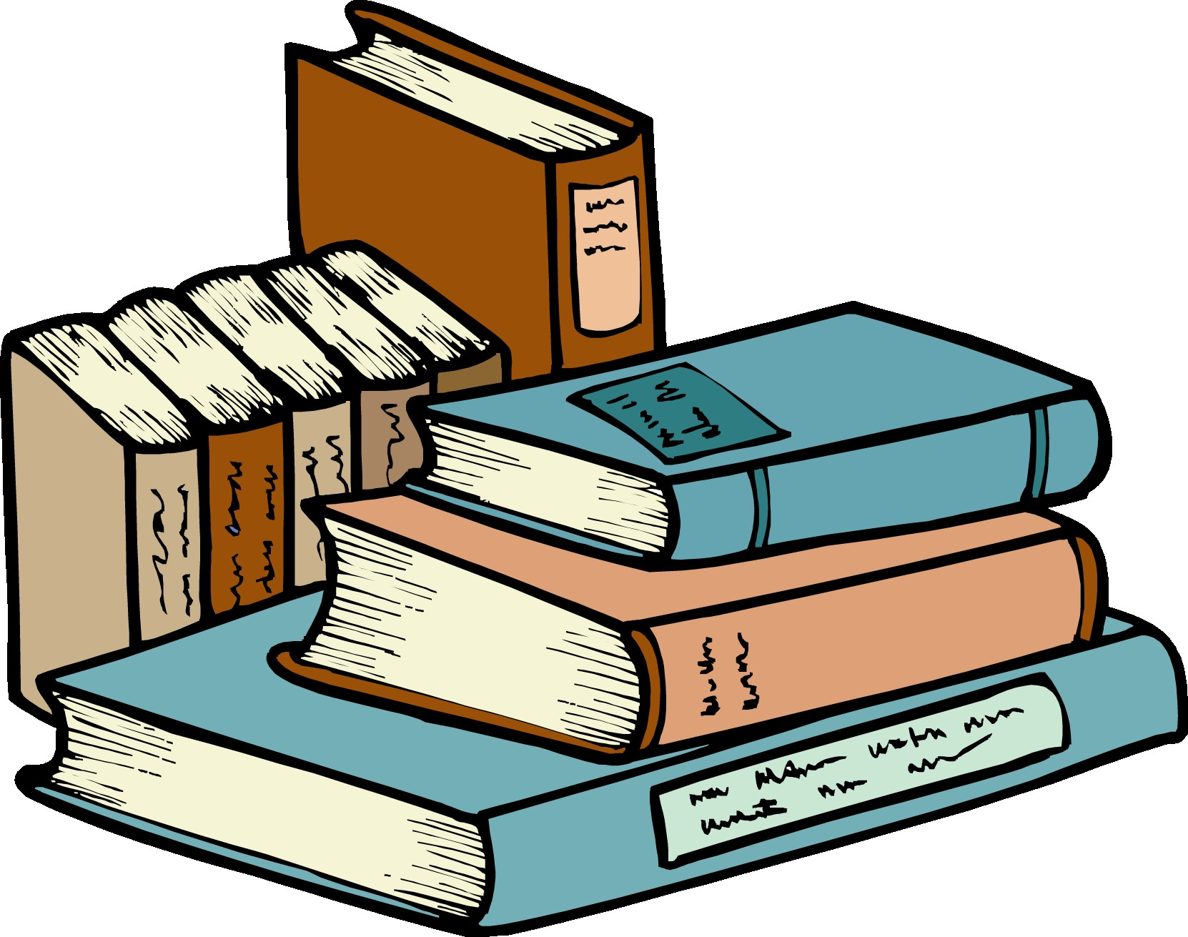 Stack Of Books Clipart Png (+).