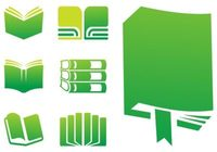 Colorful Stack of Books Vectors.