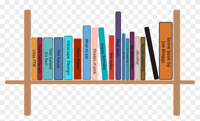 28 Collection Of Books On Shelf Clipart.