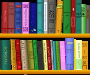 Books On Shelf Clip Art at Clker.com.