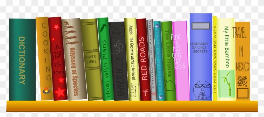 Books On Shelf Png.