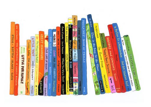 Books On A Shelf Clipart.