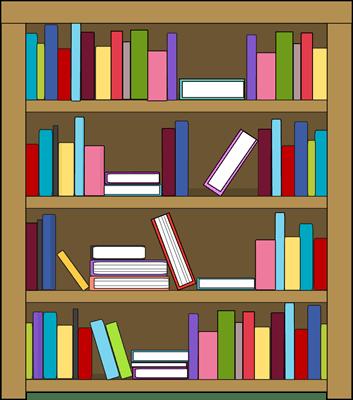 Books on a shelf clipart » Clipart Portal.