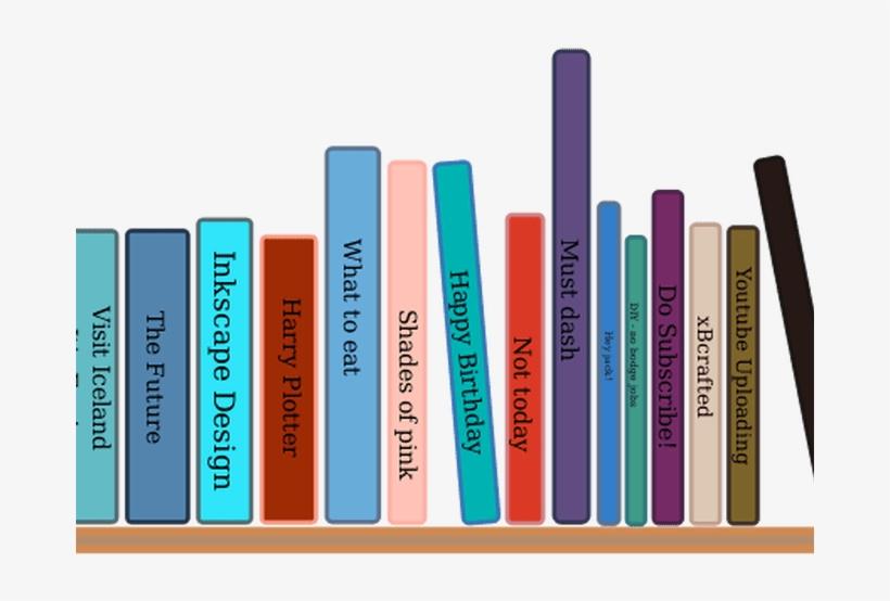 Shelf Clipart Blank Book.