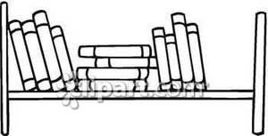 Black and White Books On A Shelf.