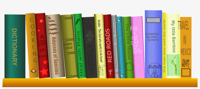 Books On Shelf Png PNG Images.