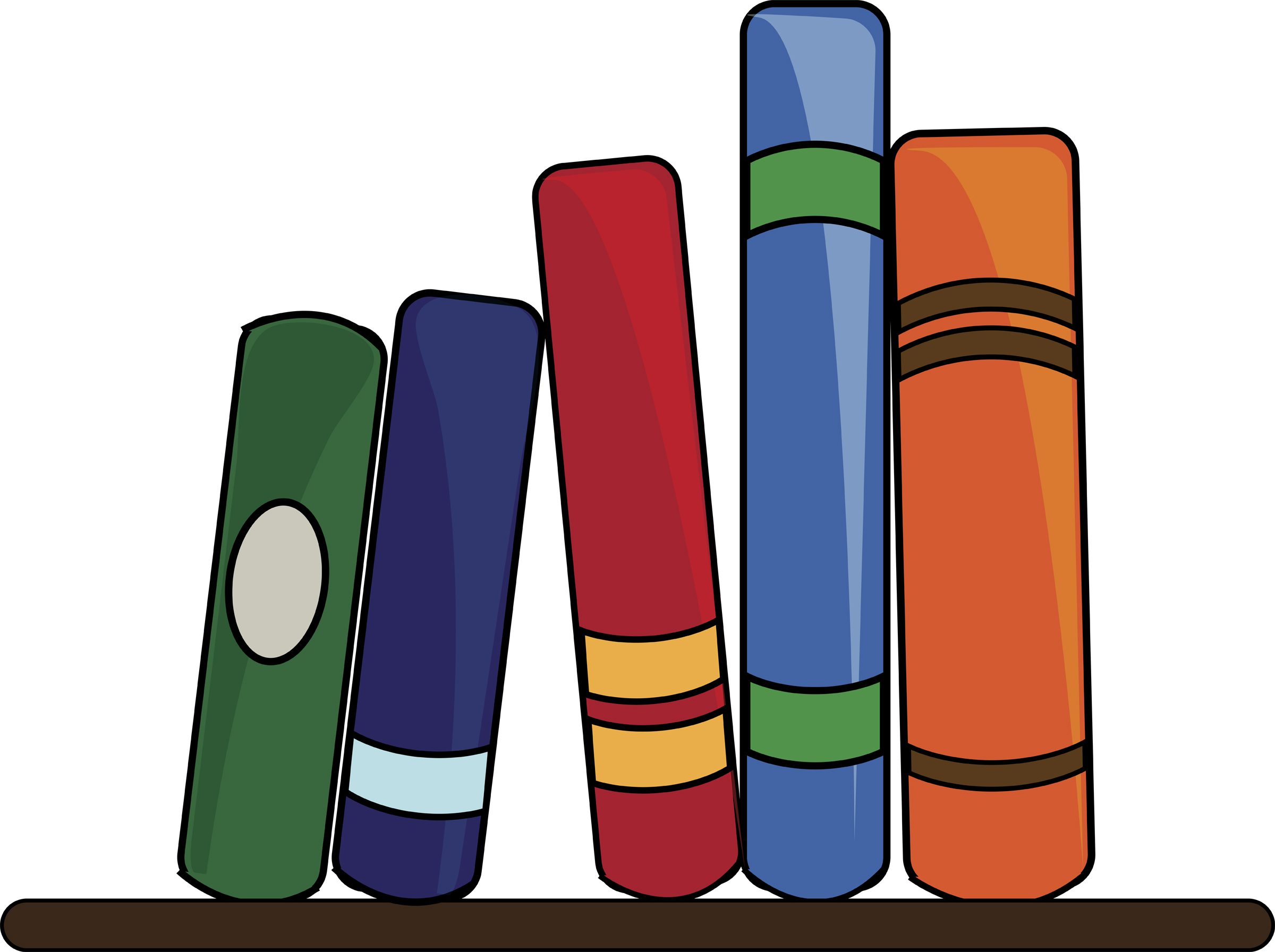 Book Shelf Clipart.