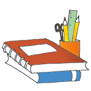 Pencil And Book Clipart.