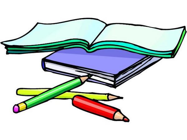 Books, Pencils.