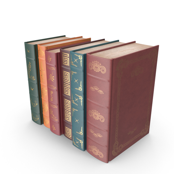 Small Row of Classic Books PNG Images & PSDs for Download.