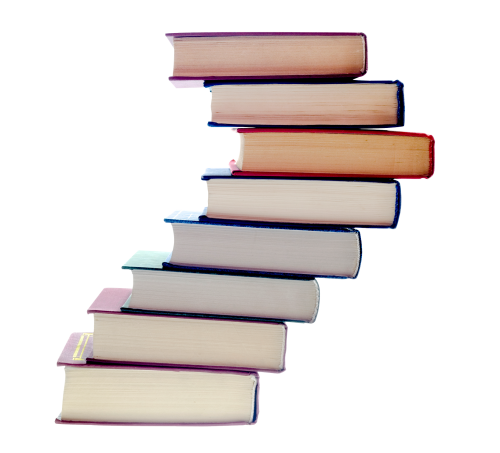 Stack of Books PNG image.
