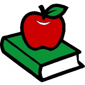 books with apple clipart #4