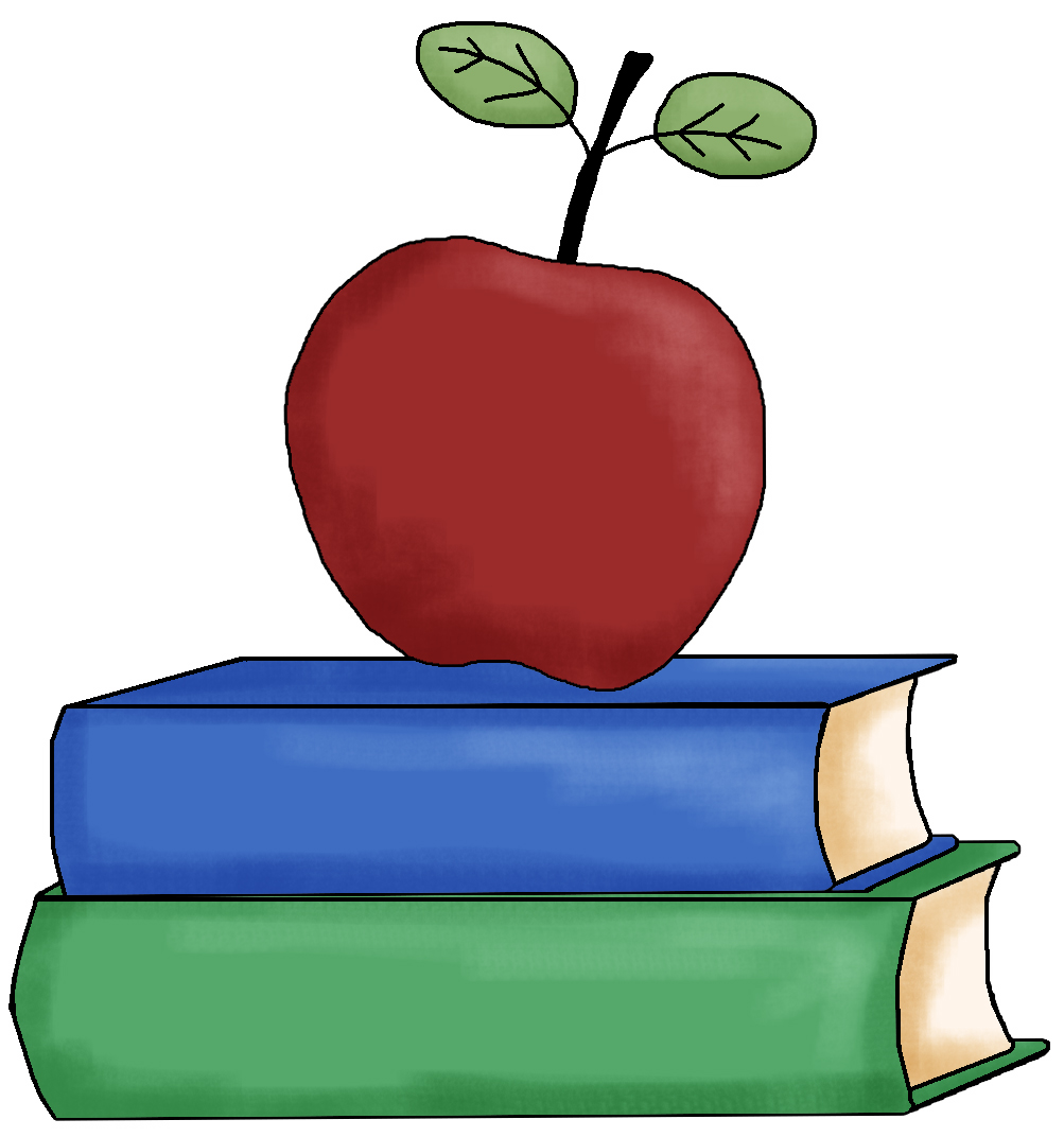 books with apple clipart #13