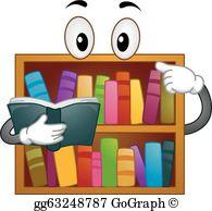 Bookshelves Clip Art.