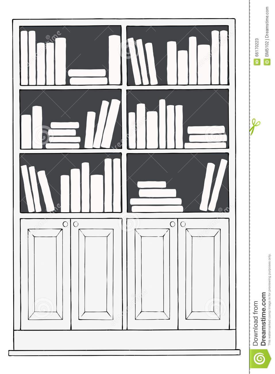 Bookshelf Png Black And White & Free Bookshelf Black And White.png.