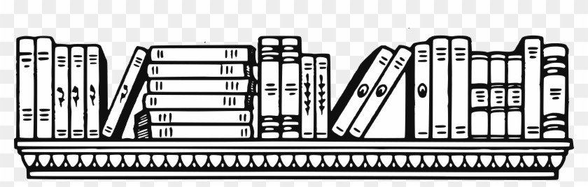 28 Collection Of Book Shelf Black And White Clipart.
