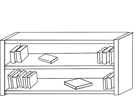 Bookshelf Clipart Black And White (88+ images in Collection) Page 2.