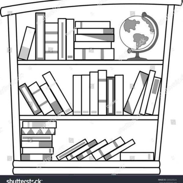 Bookshelf clipart black and white 2 » Clipart Station.