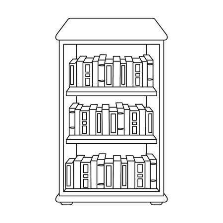 Bookcase clipart black and white 3 » Clipart Portal.