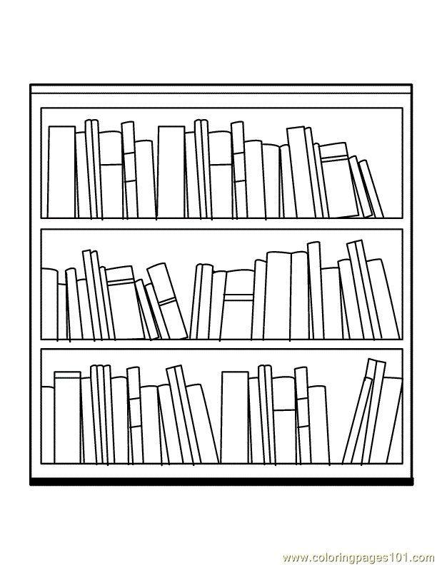 Bookshelf Clipart Empty Closet.