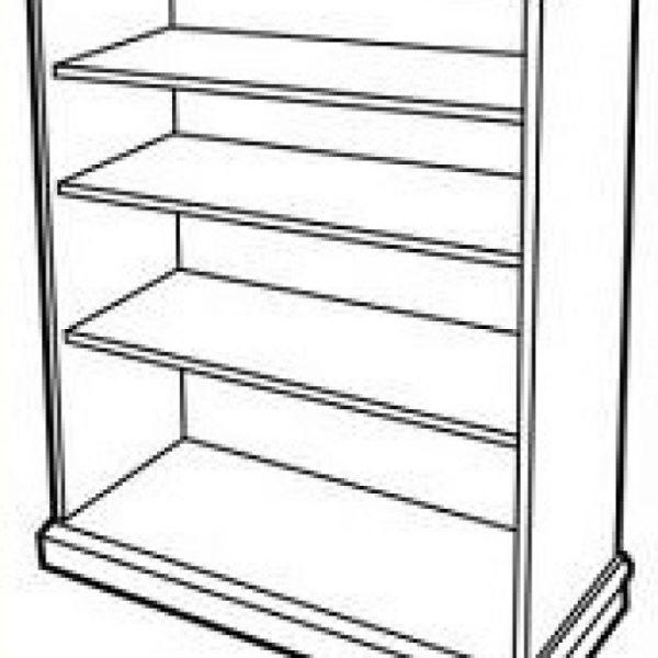 Bookshelf clipart black and white 4 » Clipart Station.