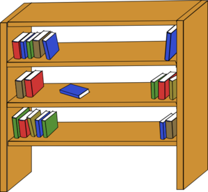 Bookshelf Clip Art.