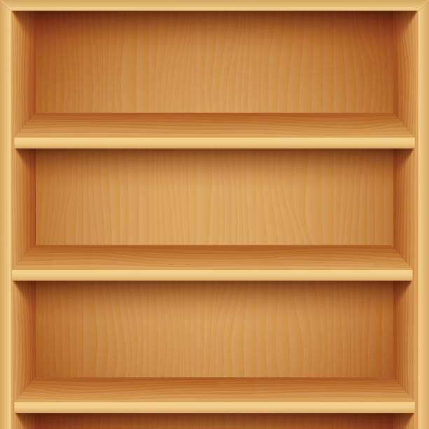 Best Empty Bookshelf Illustrations, Royalty.