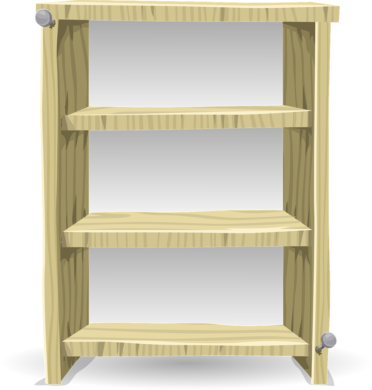 Bookcase Bookshelf Shelving Wood PNG.