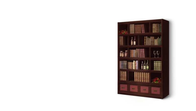 Download Free png Romance Bookshelf.png.