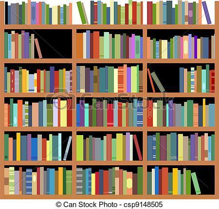 Bookshelf with books clipart 3 » Clipart Portal.