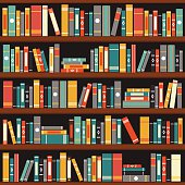 Free Bookshelf Clipart and Vector Graphics.