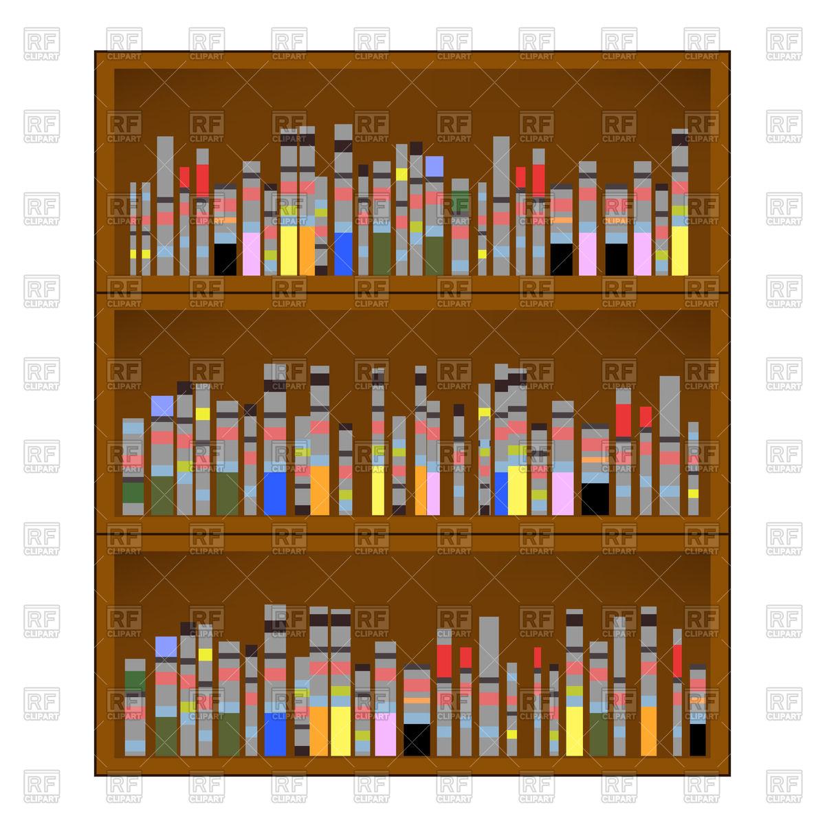 Books and bookshelves Stock Vector Image.