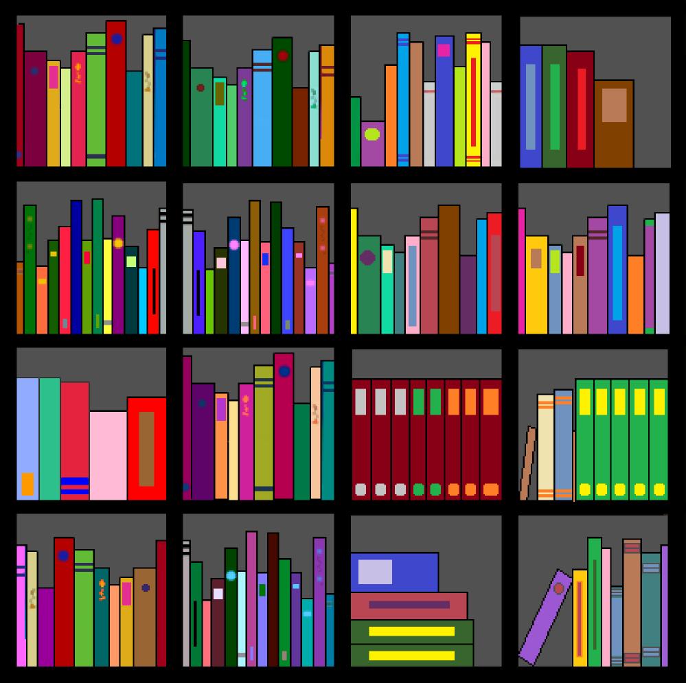 Clipart bookshelves.