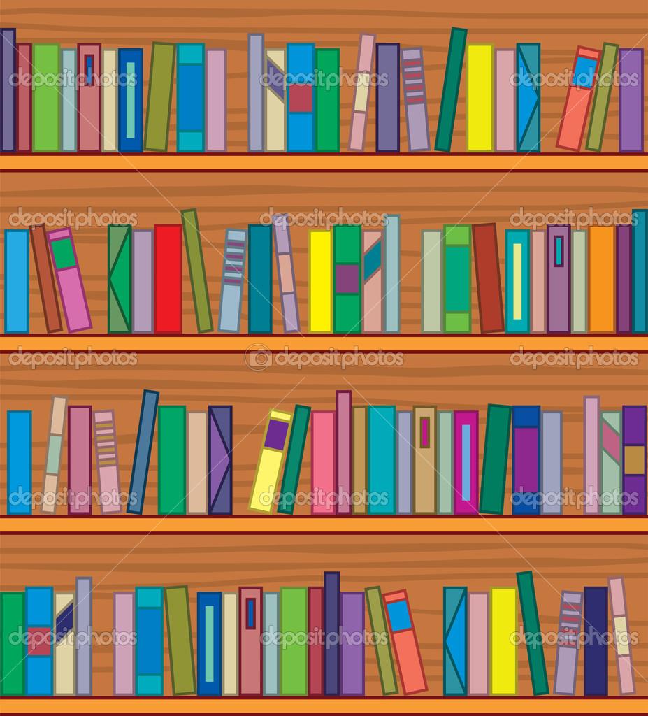 Bookshelf Books Clipart.
