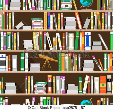 Library bookshelves clipart.