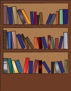 Library bookshelf clipart.