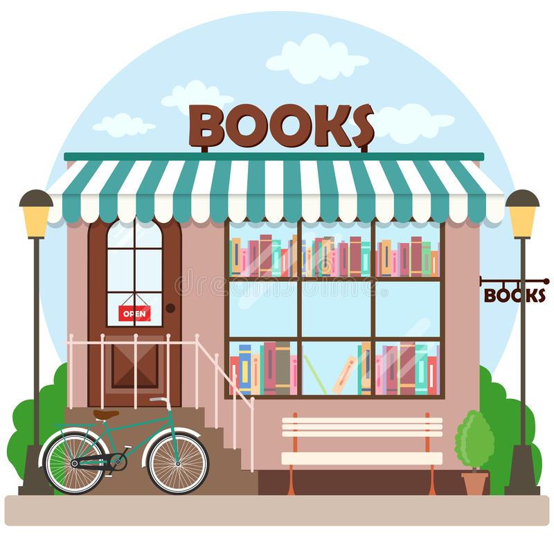 Bookshop Stock Illustrations.