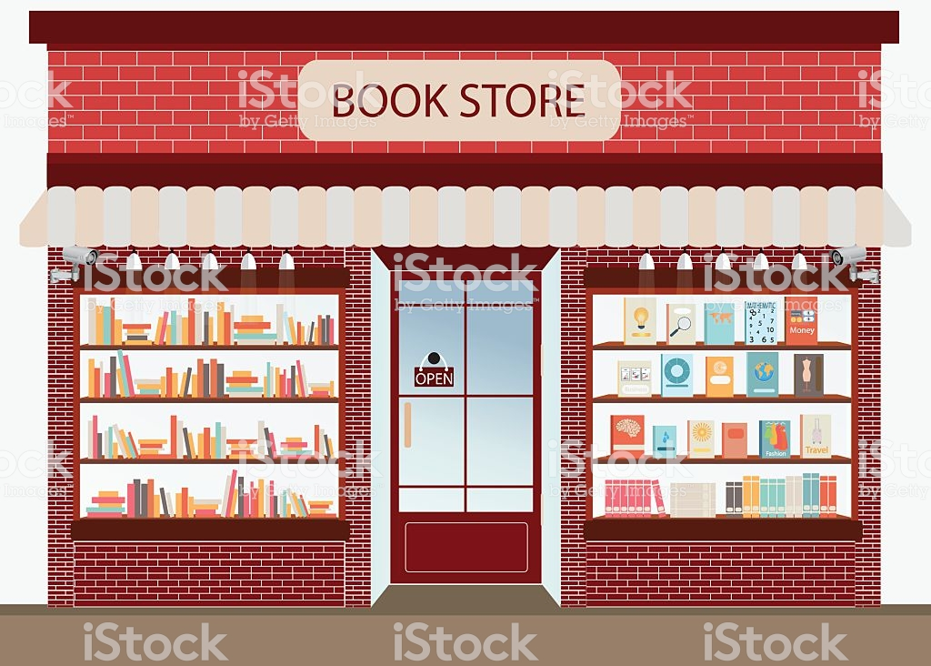 Bookstore With Bookshelves Stock Vector Art & More Images of.
