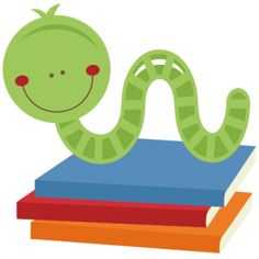 Free Bookworm Clipart.