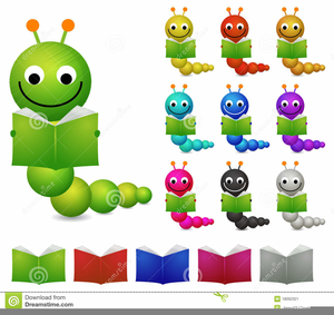 Reading Bookworm Clipart.