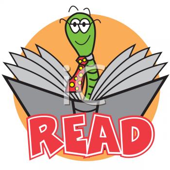 Bookworm Reading a Book.