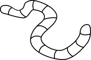 Black And White Worm Clipart.