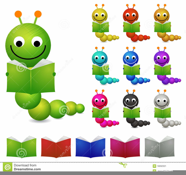 Reading Bookworm Clipart Free Images At Clker Com Vector Clip.