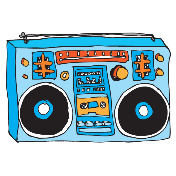 Boombox clipart.